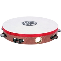 "Gon Bops 10"" Headed Single Row Wooden Tambourine"