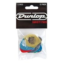 Dunlop PVP101 Pick Variety Pack, Assorted, Light/Medium, 12/Player's Pack