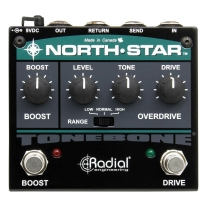 Radial Engineering Tonebone Series North-Star Overdrive and Boost Pedal
