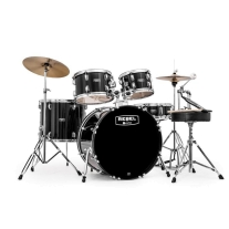 MAPEX Rebel 5-Piece Drum Set with Hardware and Cymbals Black