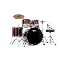 Mapex Rebel 5-Piece Drum Set with Hardware and Cymbals in Dark Red