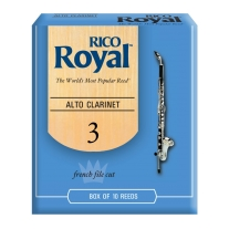 Rico RDB1030 Royal Alto Clarinet Reeds, 10Ct, 3.0 Strength