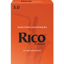 Rico Baritone Sax Reeds Strength 3.0 10-Pack