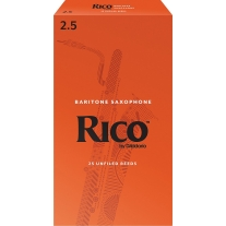 Rico Baritone Sax Reeds, Strength 2.5, 25-Pack