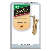 Rico LAVOZ BARI SAX Reeds, 10-Pack, SOFT Strength