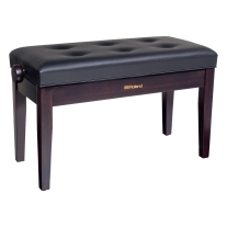 Roland RPB-D300 Duet Piano Bench with Cushioned Seat (Rosewood)