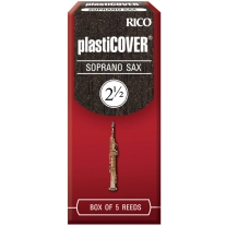 RICO PLASTICOVER SOPRANO SAX REEDS, 5CT, 2.5 STRENGTH