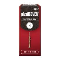 RICO PLASTICOVER SOPRANO SAX REEDS, 5CT, 3.0 STRENGTH