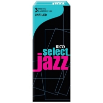 Rico Jazz Select Unfiled Baritone Saxophone Reeds, 3M