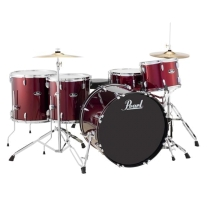Pearl Roadshow RS525WF 5-Piece Drumset w/ Hardware & Cymbals Wine Red