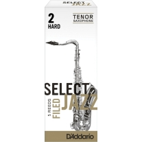 D'ADDARIO Select Jazz Tenor Saxophone Reeds 5-Pack Filed 2 Hard Strength