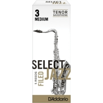 D'addario Select Jazz FIled Bb Tenor Sax Reeds 5ct, 3 Medium Strength