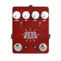 JHS Pedals Ruby Red Butch Walker Signature 2-IN-1 Overdrive/Fuzz/Boost Pedal