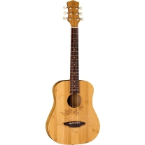 Luna Guitars Safari Bamboo 3/4 Satin Natural Acoustic Guitar Natural