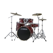 "Yamaha Stage Custom Birch 5-Piece Shell Pack - 20"" Kick, Cranberry Red"