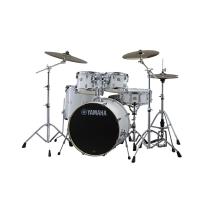 "Yamaha Stage Custom Birch 5-Piece Shell Pack 22"" Kick in Pure White"