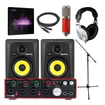 Focusrite Scarlett 18i8, Avantone CK6, KRK Rokit 5G3, and Pro Tools 2018 Bundle