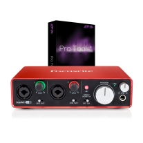 Focusrite Scarlett 2i2 (2nd Gen) New 2016 w/ Pro Tools 2018 Full Version Open Box