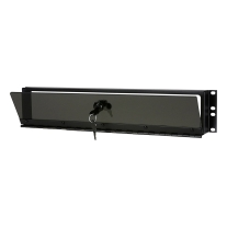 Middle Atlantic SECL-2 2-Space Plexiglass Security Cover with Hinge