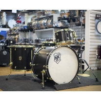 SJC SJC4PCTKBKBR 4pc Tour Series Kit Black Satin w/ Brass Hardware