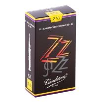 Vandoren SR4025 Soprano Sax ZZ Reeds Strength 2.5; Box of 10