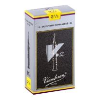 Vandoren SR6025 Soprano Sax V.12 Reeds Strength 2.5; Box of 10