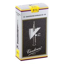Vandoren SR6035 Soprano Sax V.12 Reeds Strength 3.5; Box of 10
