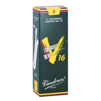 Vandoren SR742 Baritone Sax V16 Strength 2, Box of 5 Reeds