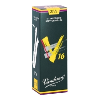 Vandoren SR7435 Baritone Sax V16 Strength 3.5, Box of 5 Reeds