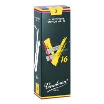 Vandoren SR743 Baritone Sax V16 Strength 3, Box of 5 Reeds