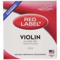 "Super Sensitive SS2103 Red Label 1/4"""" Violin String Set"