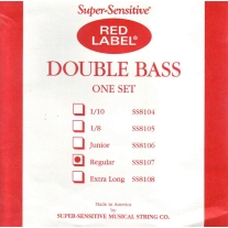 Red Label SS8107 Super Sensitive Medium 3/4 Bass Strings