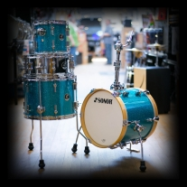 Sonor SSE 13 Martini TGS 4-Piece Drum Shell Pack in Turquoise Galaxy Sparkle