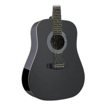 Stagg SW201 3/4-Size Dreadnought Left-Handed Acoustic Guitar with Steel Strings