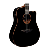 Lag T100DCE-BLK Tramontane Dreadnought Acoustic Electric Guitar