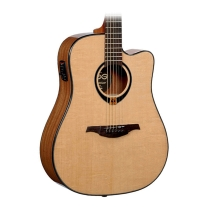 Lag T80DCE Dreadnought Acoustic-Electric Guitar Solid Spruce Top - Natural