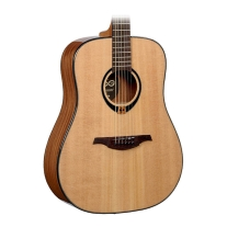Lag T80d Tramontane Dreadnought Solid Spruce Top Natural Guitar