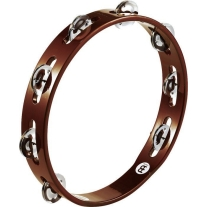 Meinl Wood Tambourine - Single Row Aluminum Jingles