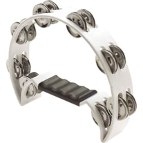 Stagg TAB2WH Half Moon Tambourine, 16 Jingles in White