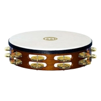 "Meinl TAH2B-AB 10"" Headed Double Row Brass Jingle Tambourine"