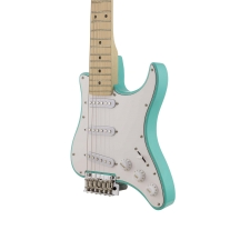 Traveler Travelcaster Deluxe Surf Green Travel Electric Guitar with Gig Bag