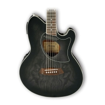 Ibanez TCM50TKS Talman Acoustic Electric Double Cutaway - Transparent Black