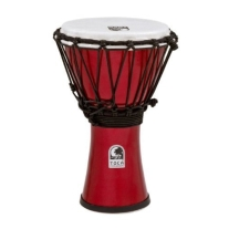"Toca TFCDJ-7MR Freestyle Colorsound 7"" Djembe - Metallic Red"