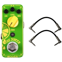 "Mooer The Juicer Guitar Pedal Stomp Box w/ (2) 6"" Patch Cables"