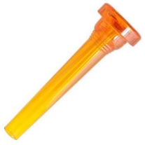 Kelly Mouthpieces 1-1/2C Crystal Orange Plastic Trumpet
