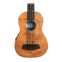 "Kala U Bass 20"" Scale Bass Ukulele Exotic Mahogany with EQ and Bag"