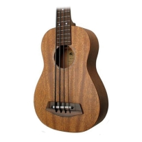 "Kala U Bass 20"" Scale Bass Ukulele All Solid Mahogany with EQ and Case"