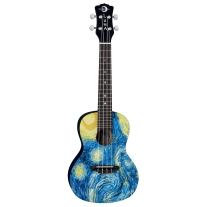 Luna Guitars Starry Night Concert Ukulele with Gig Bag
