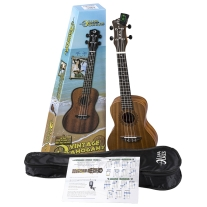 Luna Guitar Muse UKEVMCPK Mahogany Concert Ukulele Pack