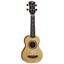 Luna Guitars UKE Vintage Soprano Ukulele